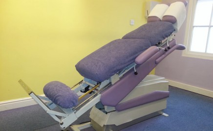Our medical consulting rooms examination tables can elevate up or down