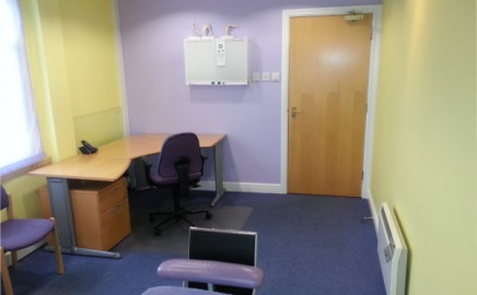 Our larger medical consulting room available to rent in Derby