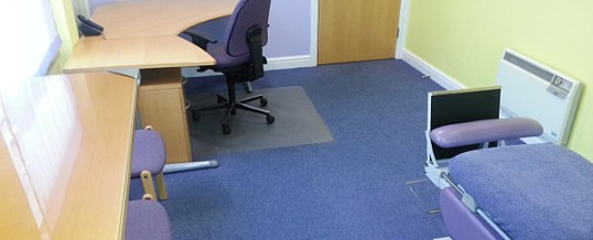 Room rental in Derby city centre for medical consulting