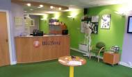 Clean, modern facilities with a designer modern colour scheme.