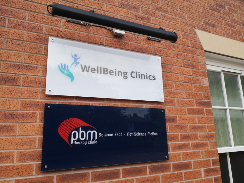 WellBeing clinics signage