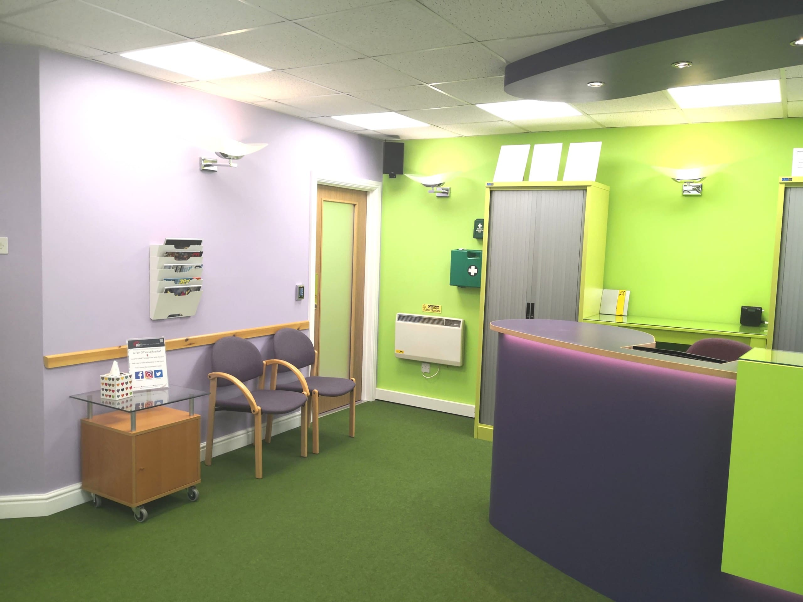 WellBeing reception and seating
