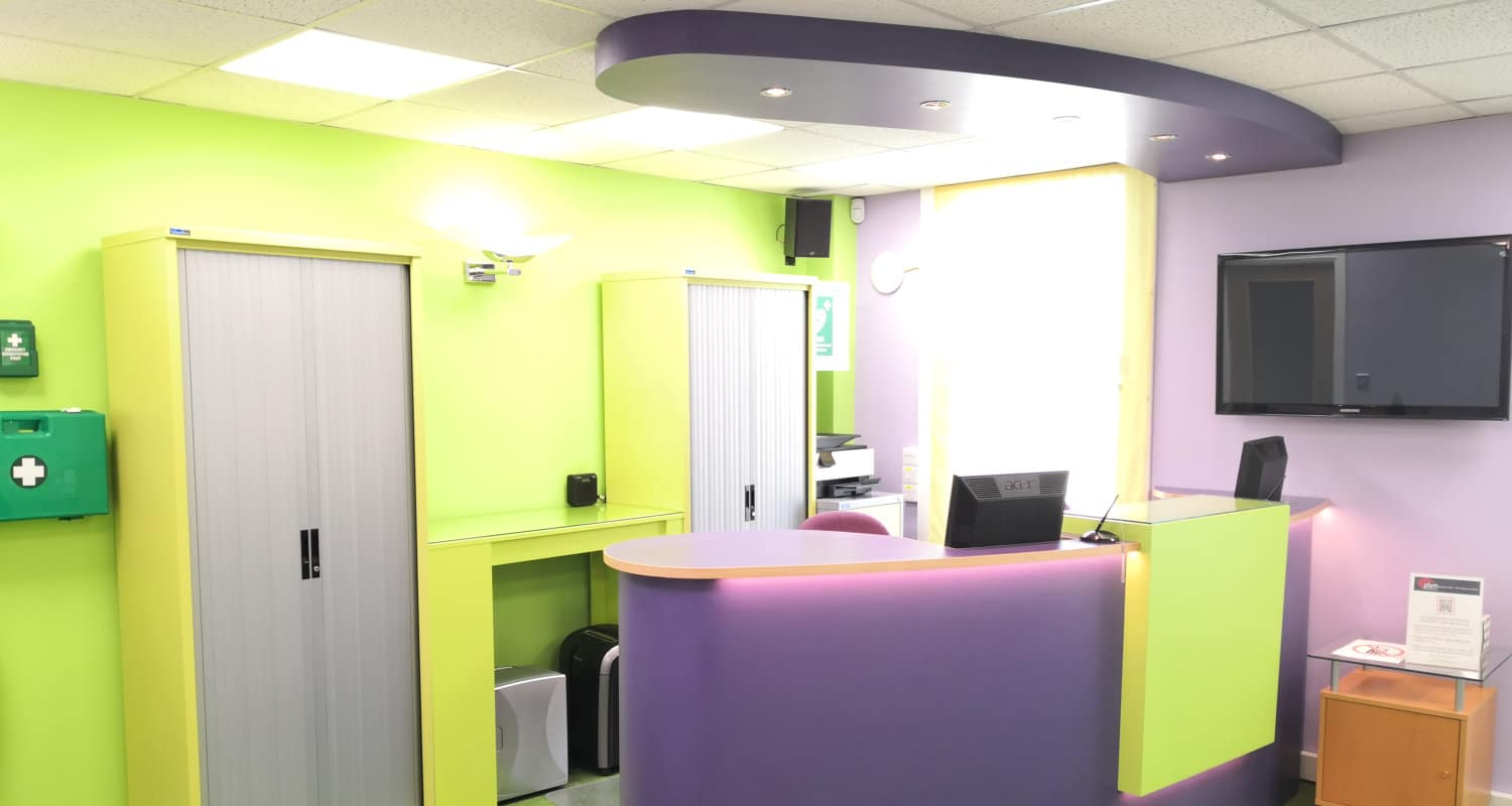 Reception for medical room hire Derby
